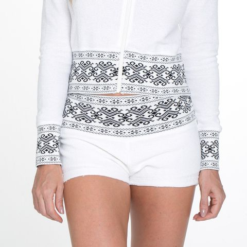 SHORT-RED-NOSE-TRICOT-ARABESCO-BRANCO