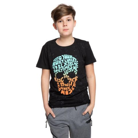 CAMISETA-JUVENIL-SKULL-96---RED-NOSE-PRETO