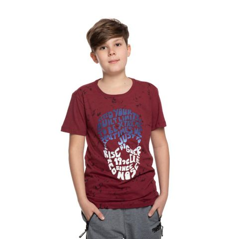 CAMISETA-JUVENIL-SKULL-96---RED-NOSE-VINHO