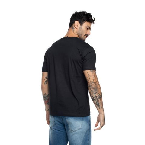 CAMISETA-MASCULINA-CIRCLE-HALF---RED-NOSE-PRETO