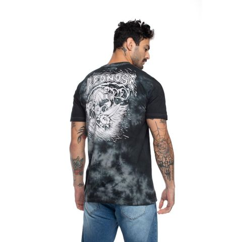 CAMISETA-MASCULINA-TIE-DYE---RED-NOSE-CINZA