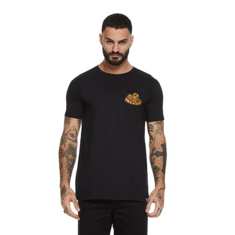 CAMISETA-MASCULINA-ROCK-SESSIONS---RED-NOSE-PRETO