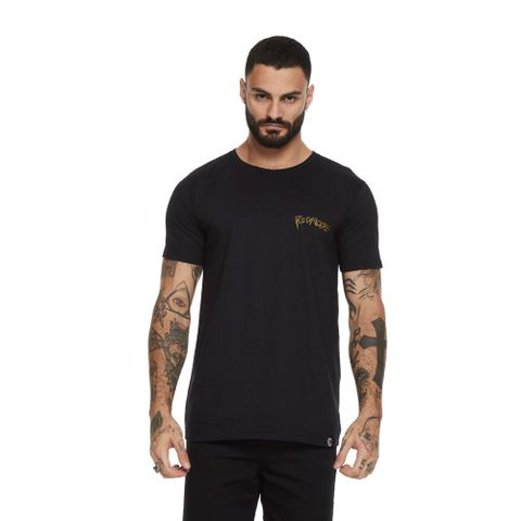 CAMISETA-MASCULINA-SURF-OF-DEATH---RED-NOSE-PRETO