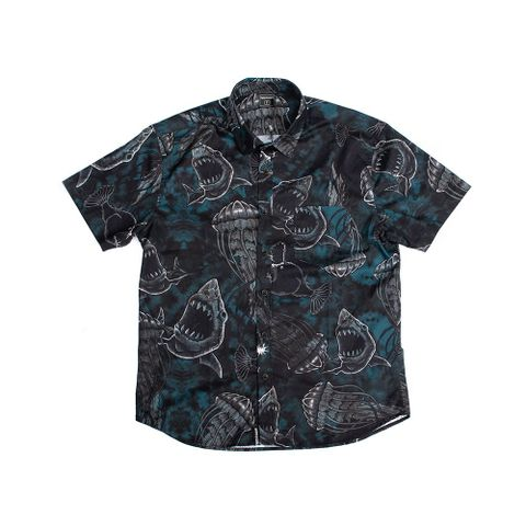 CAMISA-MASCULINA-DEEP-SEA---RED-NOSE-PRETO