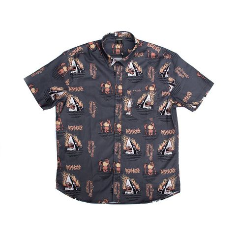 CAMISA-MASCULINA-SUNSET-IN-HELL---RED-NOSE-CINZA