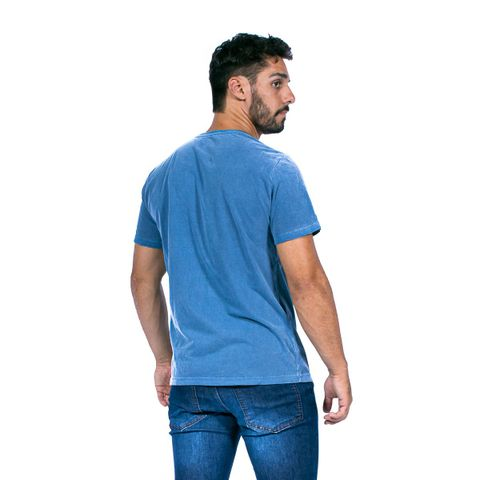 CAMISETA-MASCULINA-ESTONED-RED-NOSE-AZUL