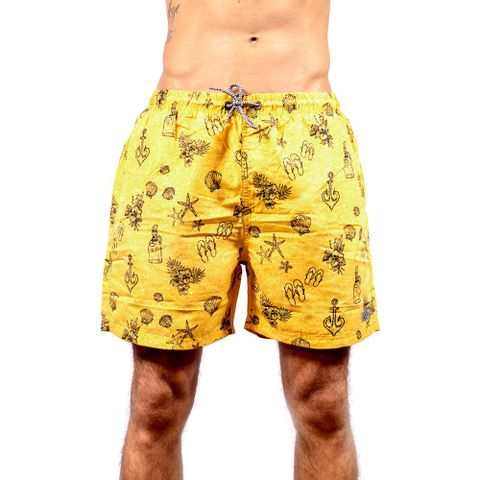SHORTS-DE-PRAIA-MASCULINO-VACATION---RED-NOSE-AMARELO