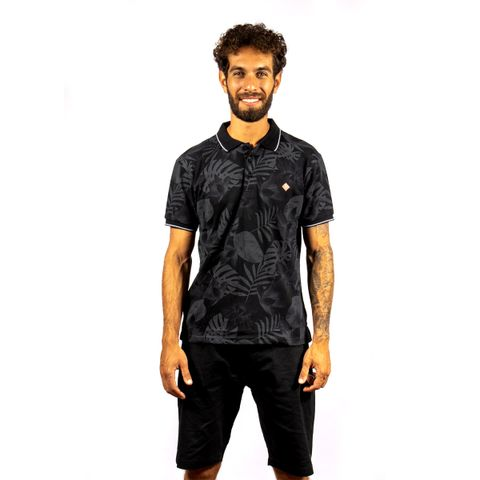 CAMISA-POLO-MASCULINA-SLOW---RED-NOSE-PRETO