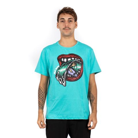 CAMISETA-MASCULINA-WAVE-MOUTH---RED-NOSE-VERDE